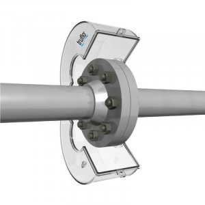 The LFS all plastic flange spray shields has PP solid construction and 360º directional discharge port and is reusable.