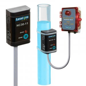 The NC-30 non-contact liquid level and flow switch detects the presence of liquid through plastic or fiberglass.
