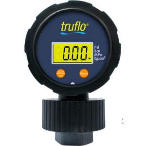 The OBS-LC all plastic gauge with integral gauge guard is battery operated with a large LCD display.