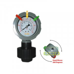 The OBS-R all plastic gauge with integral gauge guard has a 360º rotatable display face.