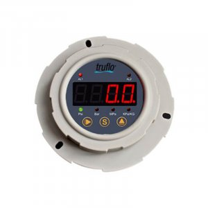 The OBS-P all plastic digital LED panel mount pressure transmitter and switch. 4-20mA and Relay Outputs.