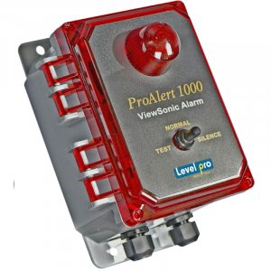 The ProAlert 1000 is a 90dB audible visual alarm that uses high intensity red alarm light for leak detection notification function.