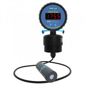 The TankPro submersible level sensor + display provides continuous tank level measurement of corrosive and non-corrosive liquids.