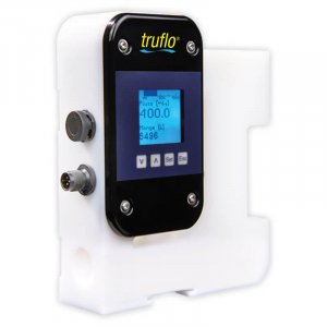 The UltraFlo 5000 series ultrasonic flow meter measures dosing, continuous and pulsating flow. Provides flow rate and total.