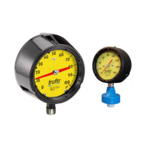 OBS-GO4 Series – 4 1/2″ Plastic Pressure Gauge + Pulsation Isolator