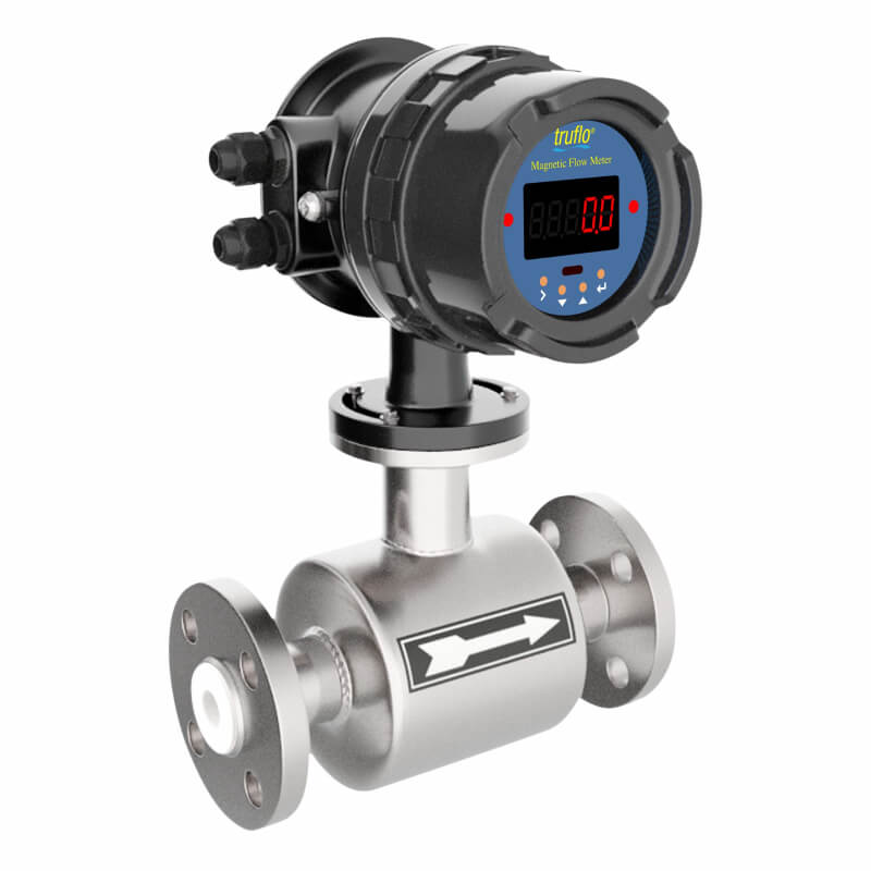 The MF-1000 in-line mag meter comes equipped with Hastelloy C electrodes and a PTFE Teflon liner.