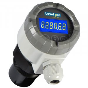 The UltraPro 1000 ultrasonic level transmitter measures liquid level inside tanks or sumps. Highly accurate with a local LCD display.