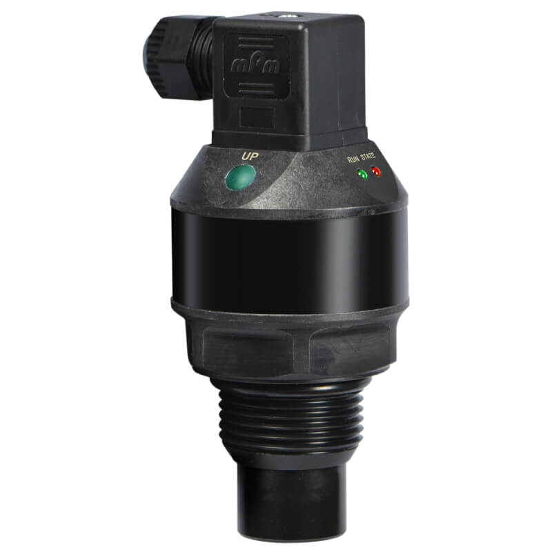 The UltraPro 500 ultrasonic level transmitter measures liquid level in tanks or sumps. Highly accurate with LED echo confirmation.