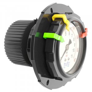 The OBS-A all plastic pressure gauge and gauge guard is the industry's most accurate pressure gauge.