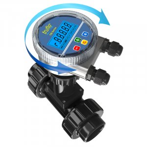 The TIB insertion paddle wheel flow meter is battery operatd and provides flow rate and total. LCD Display